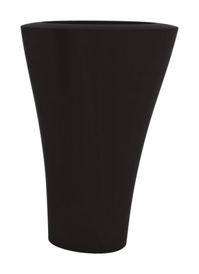 Pot de fleurs Ming Extra High H 140 cm - Serralunga noir mat en matière plastique