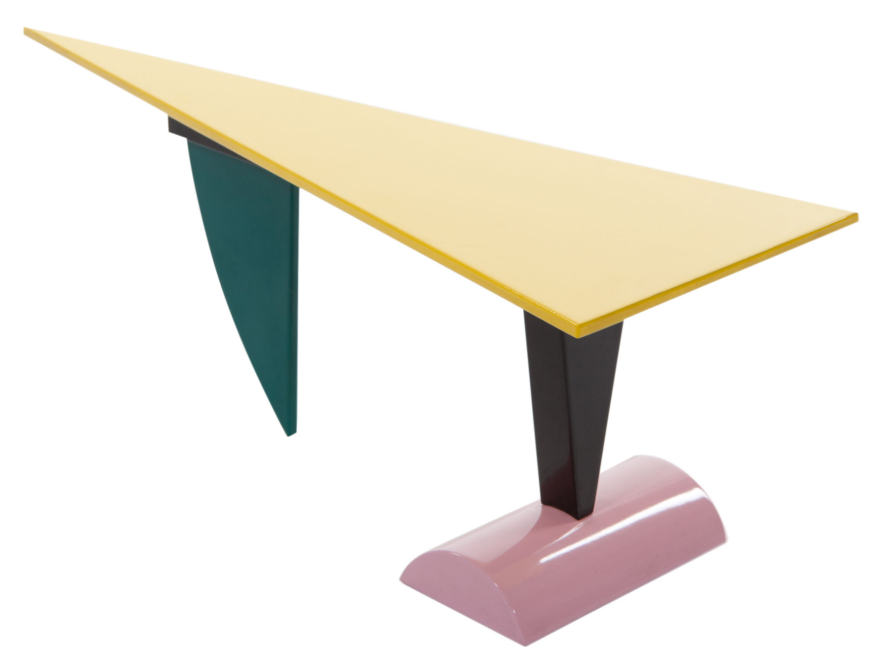 Furniture - Dining Tables - Brazil Rectangular table by Memphis Milano - Multicolored - Lacquered wood