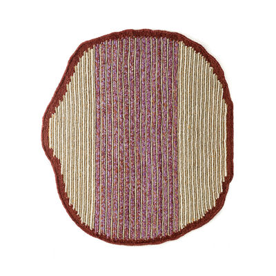 Decoration - Rugs - Uilas Small Rug - / 180 x 200 cm - Natural fibre by ames - Terracotta - Fique fibre, Virgin wool