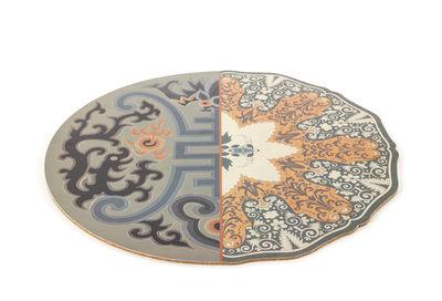 Tavola - Tovaglie e Tovaglioli - Set da tavola Hybrid Marozia - / Ø 37 cm di Seletti - Marozia - PVC, Sughero