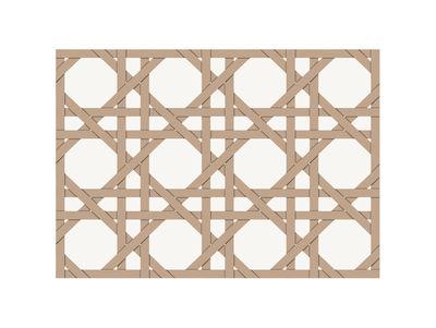Set de table Cannage / 35 x 49 cm- Vinyle - PÔDEVACHE beige en matière plastique
