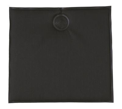 Dekoration - Kissen - Sitzkissen magnetisch / 39 x 37 cm - Emu - Anthrazit - Tissu technique