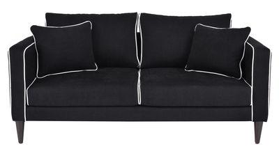 Möbel - Sofas - Noa Sofa / 2-Sitzer - L 160 cm - Maison Sarah Lavoine - Schwarz / weiße Bordüren - Baumwolle, Holz, Polyacryl, Polyesterfaser
