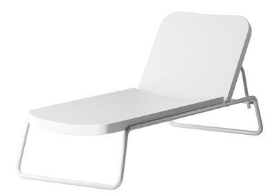 Outdoor - Sonnenliegen, Liegestühle und Hängematten - Time out Sonnenliege / verstellbar - Serralunga - Weiß / Gestell weiß - lackiertes Metall, Polyäthylen