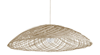 Illuminazione - Lampadari - Sospensione Satélise M / rattan - Ø 60 cm - Forestier - Naturel - Midollino, Tessuto