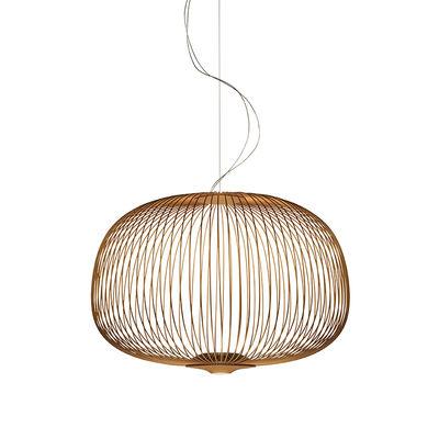 Illuminazione - Lampadari - Sospensione Spokes 3 My Light - / LED - Bluetooth / Ø 61 x H 42 cm di Foscarini - Cuivre - Acciaio verniciato, alluminio verniciato