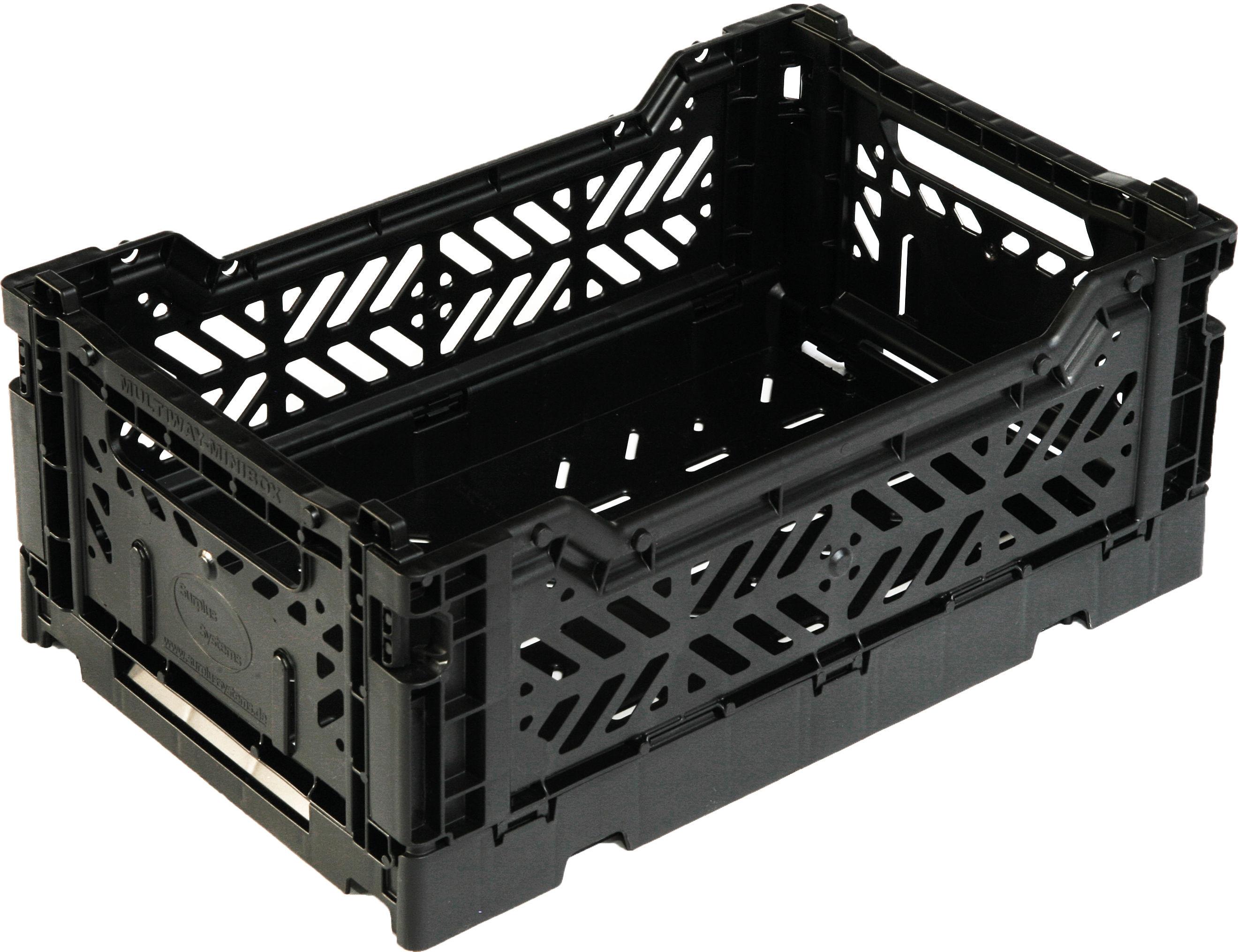 Accessories - Desk & Office Accessories - Mini Box Storage rack - Foldable L 26,5 cm by Surplus Systems - Pop Corn - Black - Polypropylene