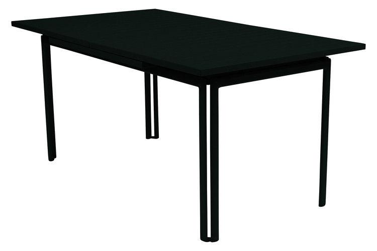 Jardin - Tables de jardin - Table à rallonge Costa / L 160 à 240 cm - 6 à 10 personnes - Fermob - Réglisse - Aluminium laqué