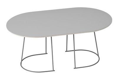 Mobilier - Tables basses - Table basse Airy / Medium -  88 x 51,5 cm - Muuto - Gris - Acier peint, Contreplaqué, Stratifié