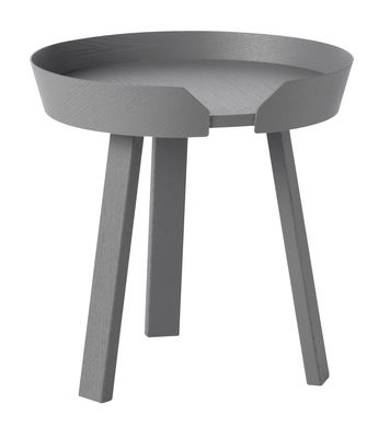 Table basse Around Small / Ø 45 x H 46 cm - Muuto gris foncé en bois