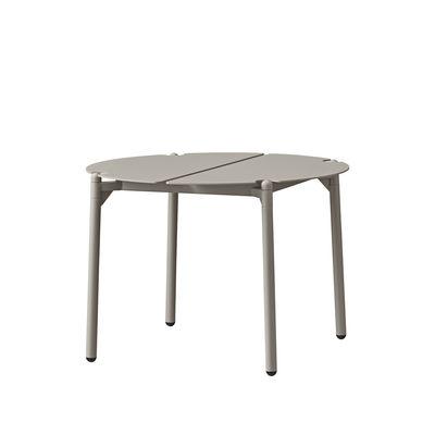 Mobilier - Tables basses - Table basse Novo / Ø 50 x H 35 cm - Métal - AYTM - Taupe - Acier revêtement poudre, Aluminium revêtement poudre