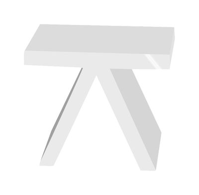 Table d'appoint Toy version laquée - Slide laqué blanc en matière plastique
