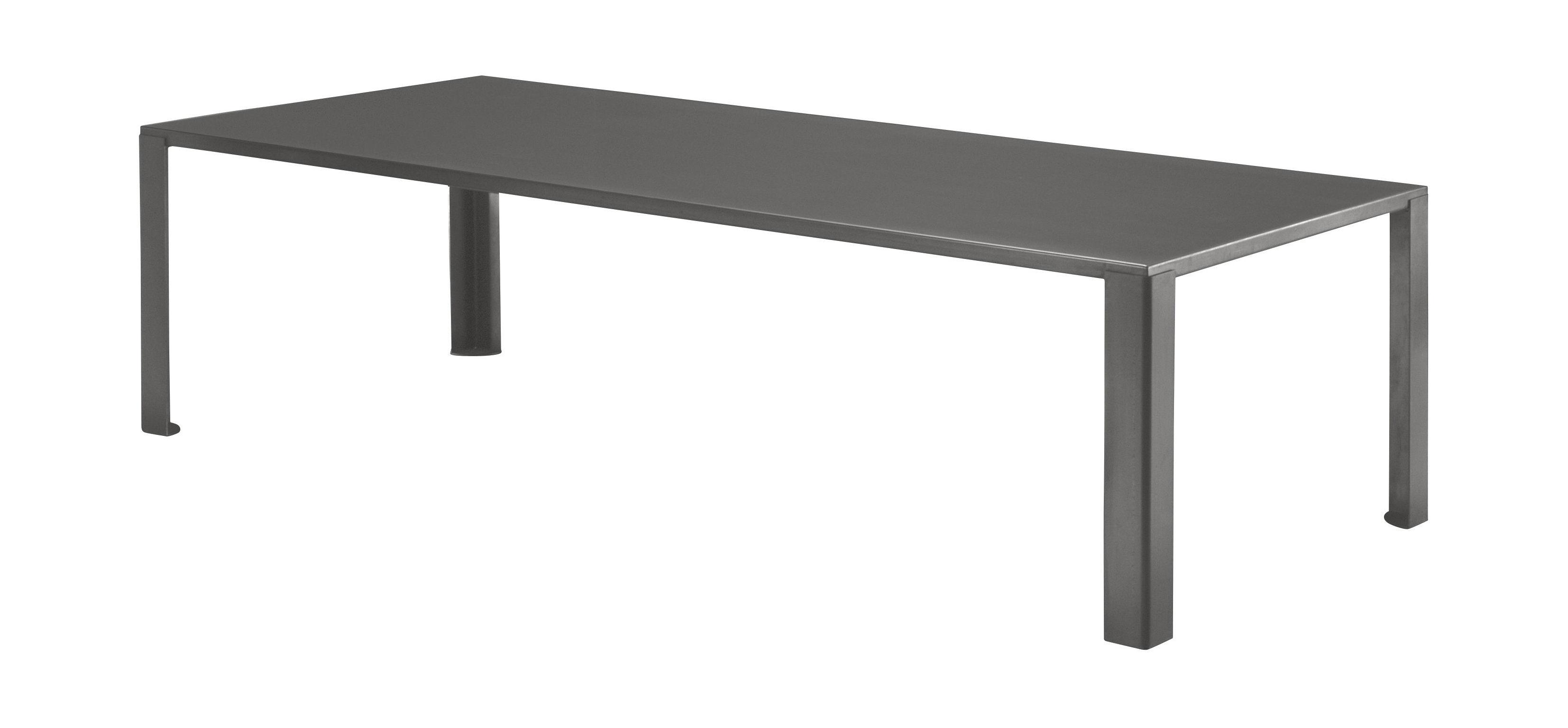Jardin - Tables de jardin - Table de jardin Big Irony Outdoor / L 200 cm - Zeus - Gris chaud - Acier zingué avec peinture époxy