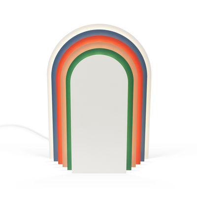 Lighting - Table Lamps - Cemi LED Table lamp - / Steel by Presse citron - Multicoloured - Lacquered steel