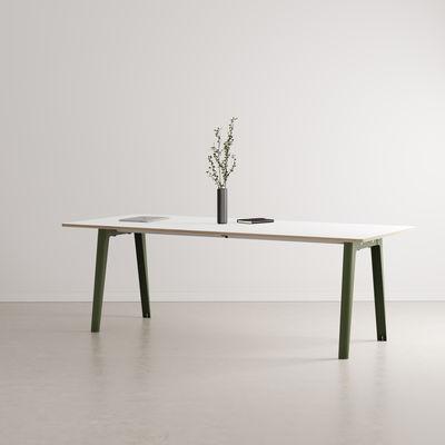 Table rectangulaire New Modern / 220 x 95 cm - Stratifié / 10 à 12 personnes - TIPTOE vert en métal/bois