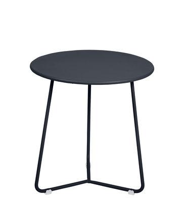 Arredamento - Tavolini  - Tavolino d'appoggio Cocotte - / Sgabello - Ø 34 x H 36 cm di Fermob - Carbone - Acciaio verniciato