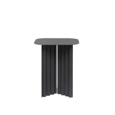 Arredamento - Tavolini  - Tavolino d'appoggio Plec Small - / Acciaio - 37 x 37 x H 45 cm di RS BARCELONA - Nero - Acciaio