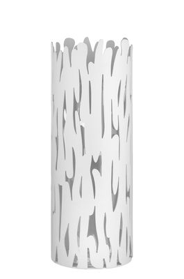 Decoration - Vases - Barkvase Vase by Alessi - White - Glass, Lacquered stainless steel