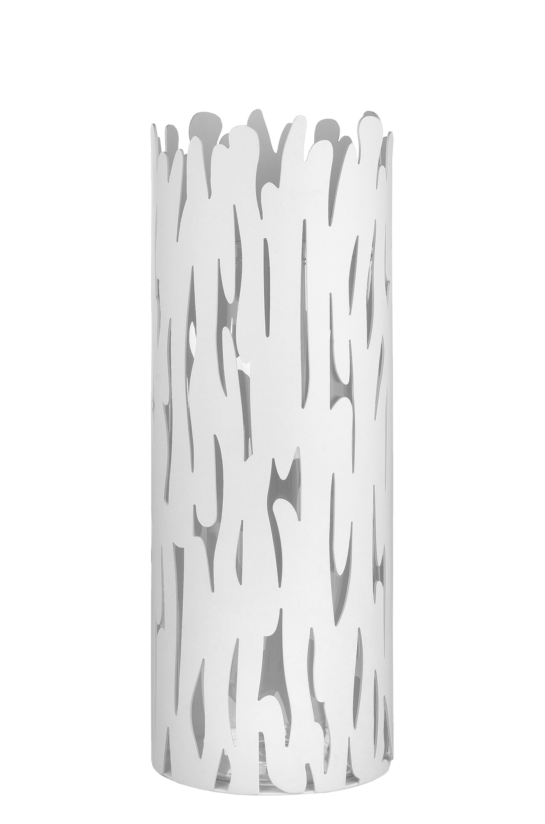 Decoration - Vases - Barkvase Vase by Alessi - White - Glass, Lacquered stainless steel