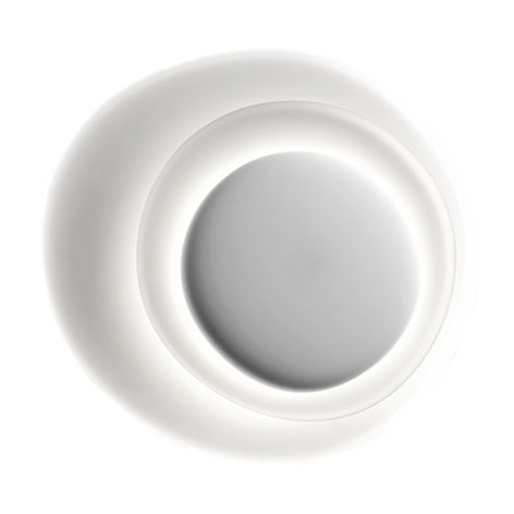 Lighting - Wall Lights - Bahia Wall light - LED - L 70 x H 76 cm by Foscarini - White - Injection moulded polycarbonate