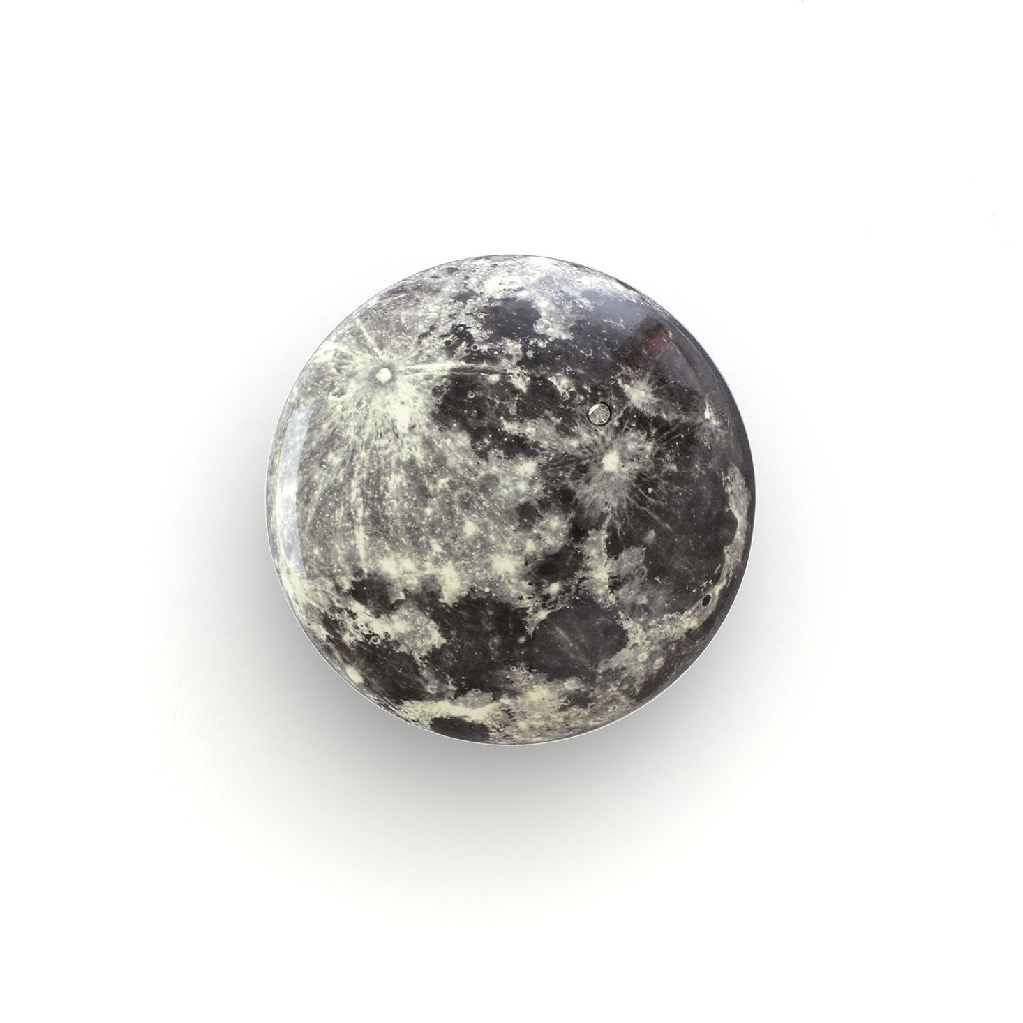 Möbel - Garderoben und Kleiderhaken - Cosmic Diner - Moon Wandhaken / ø 17 cm - Diesel living with Seletti - Mond - Holz