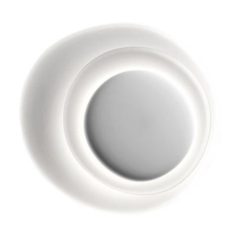 Leuchten - Wandleuchten - Bahia Wandleuchte / LED - 76 x 70 cm - Foscarini - Weiß - Polycarbonat, spritzgegossen
