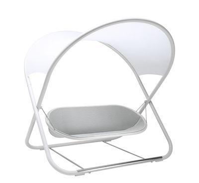 Outdoor - Chaises longues et hamacs - Balancelle Cool-là / 2 places - Emu - Blanc - Acier inoxydable, Acier verni, Tissu 3D, Tissu synthétique