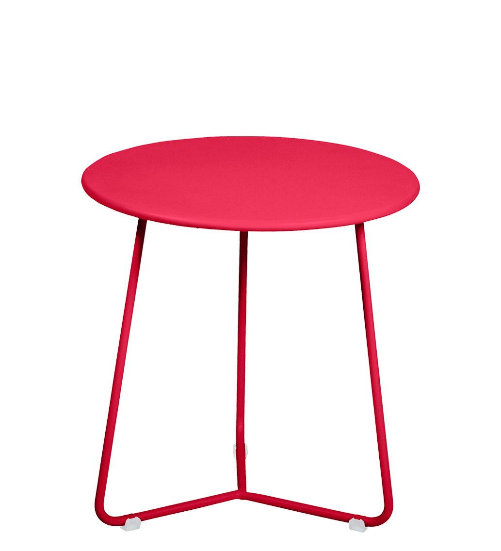 Möbel - Couchtische - Cocotte Beistelltisch / Hocker - Ø 34 cm x H 36 cm - Fermob - Rose Praline - bemalter Stahl