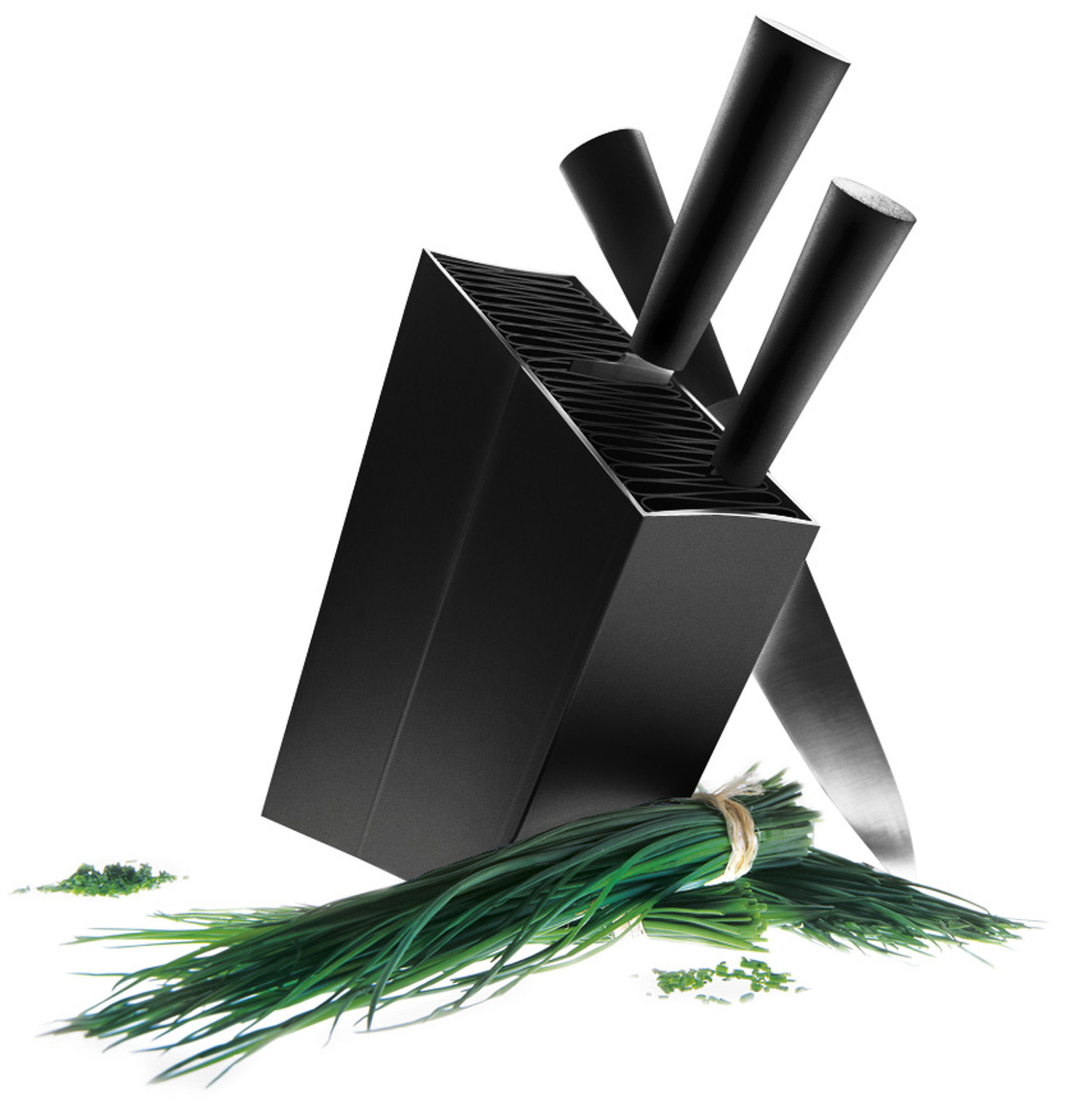 Cuisine - Couteaux de cuisine - Bloc à couteaux / Incliné - Eva Solo - Noir - Aluminium anodisé, Polypropylène