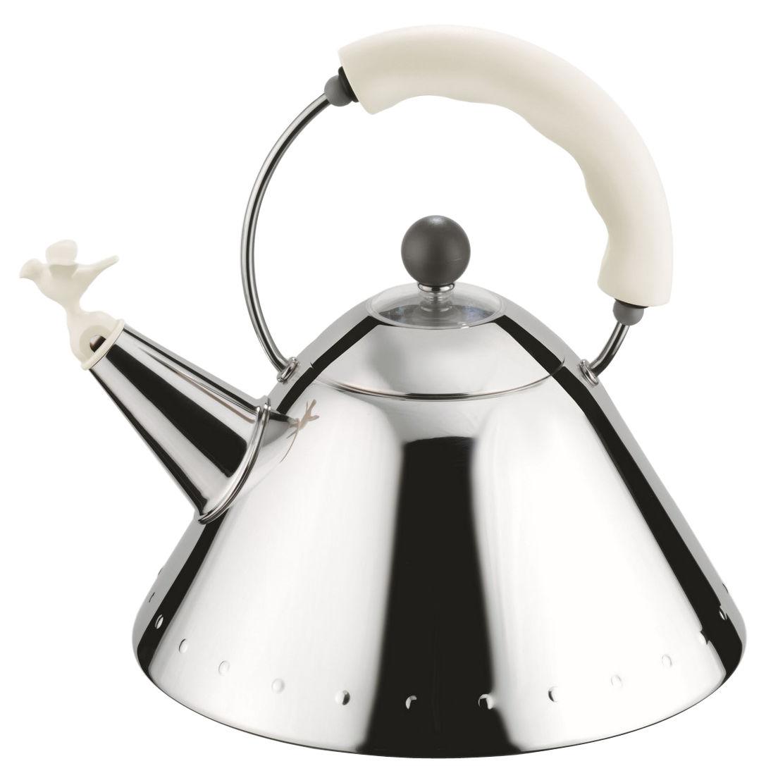 Tavola - Caffè - Bollitore Oisillon di Alessi - Bianco - Acciaio inossidabile, Poliammide