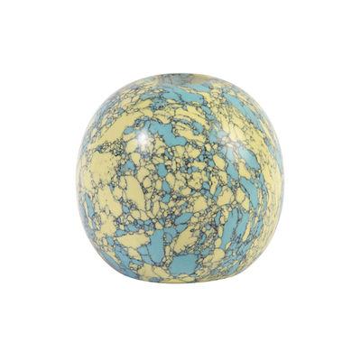Déco - Bougeoirs, photophores - Bougeoir Yellow turquoise 7.5 x Ø 7 cm - & klevering - Yellow turquoise / Jaune & bleu - Poudre de marbre, Résine