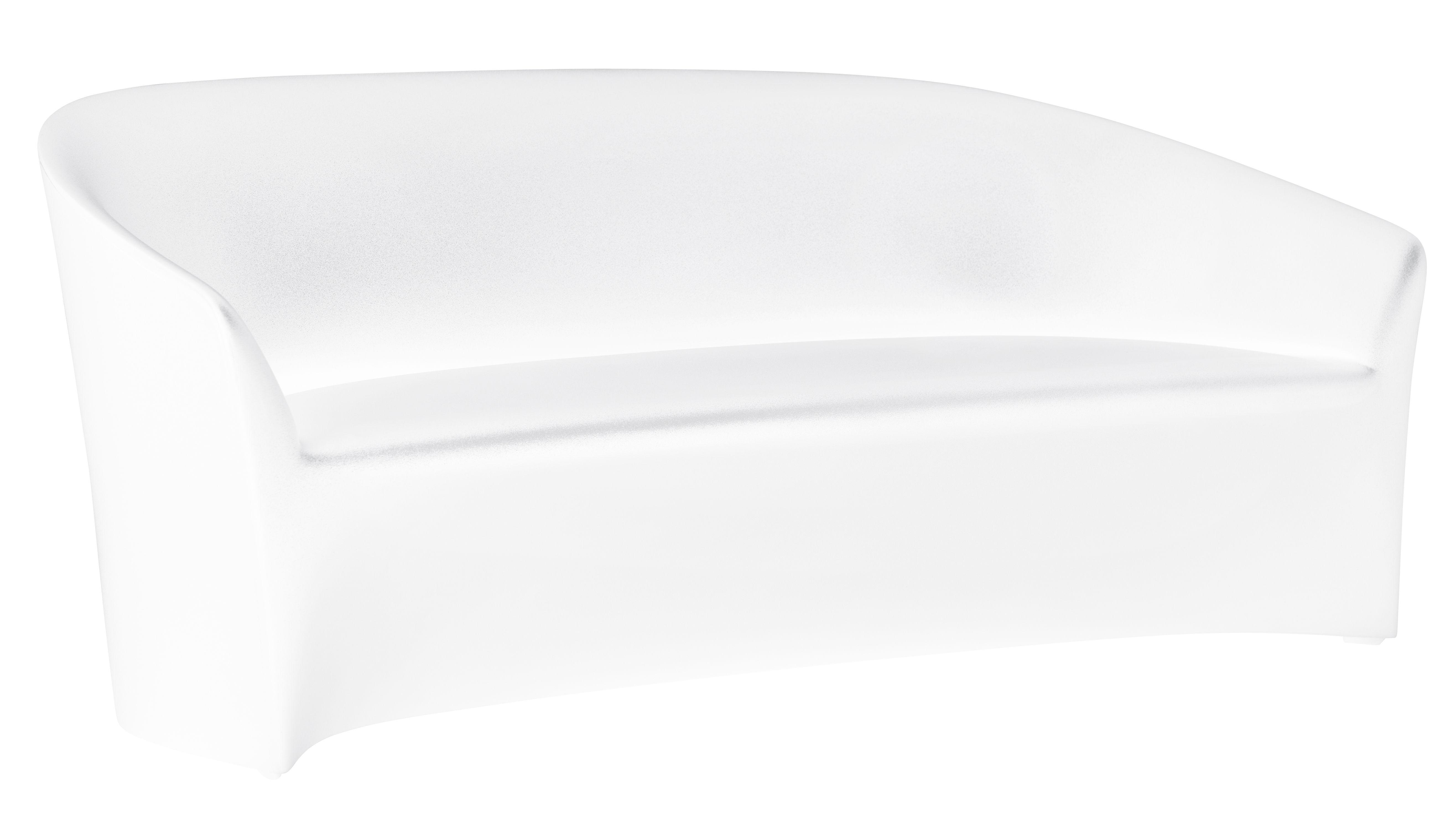 Outdoor - Canapés - Canapé droit PineBeach L 180 cm / Intérieur-extérieur - Serralunga - Blanc - Polyéthylène
