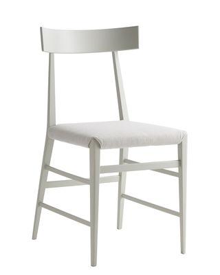 Furniture - Chairs - Noli Chair - / Fabric & solid beechwood by Zanotta - Ash grey - Fabric, Foam, Painted solid beech