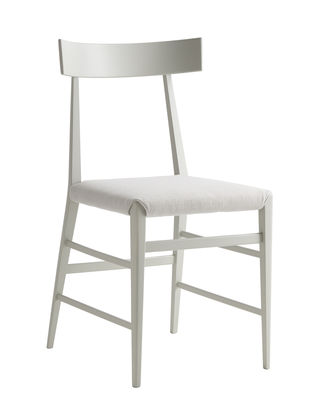 Mobilier - Chaises, fauteuils de salle à manger - Chaise Noli / Tissu & hêtre massif - Zanotta - Gris cendre - Hêtre massif peint, Mousse, Tissu