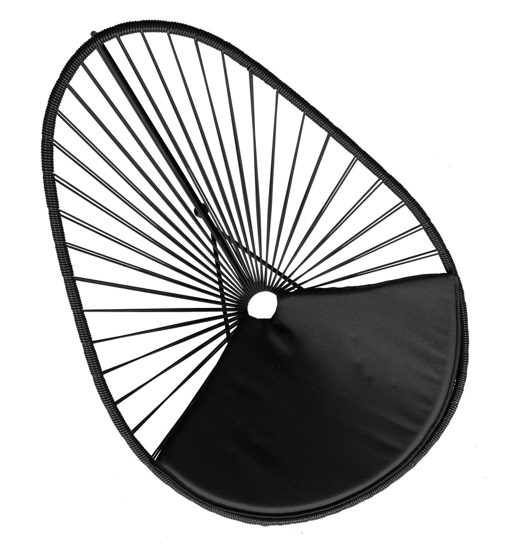 Déco - Coussins - Coussin d'assise / Pour fauteuils Acapulco & Condesa - OK Design pour Sentou Edition - Noir - Tissu polyester