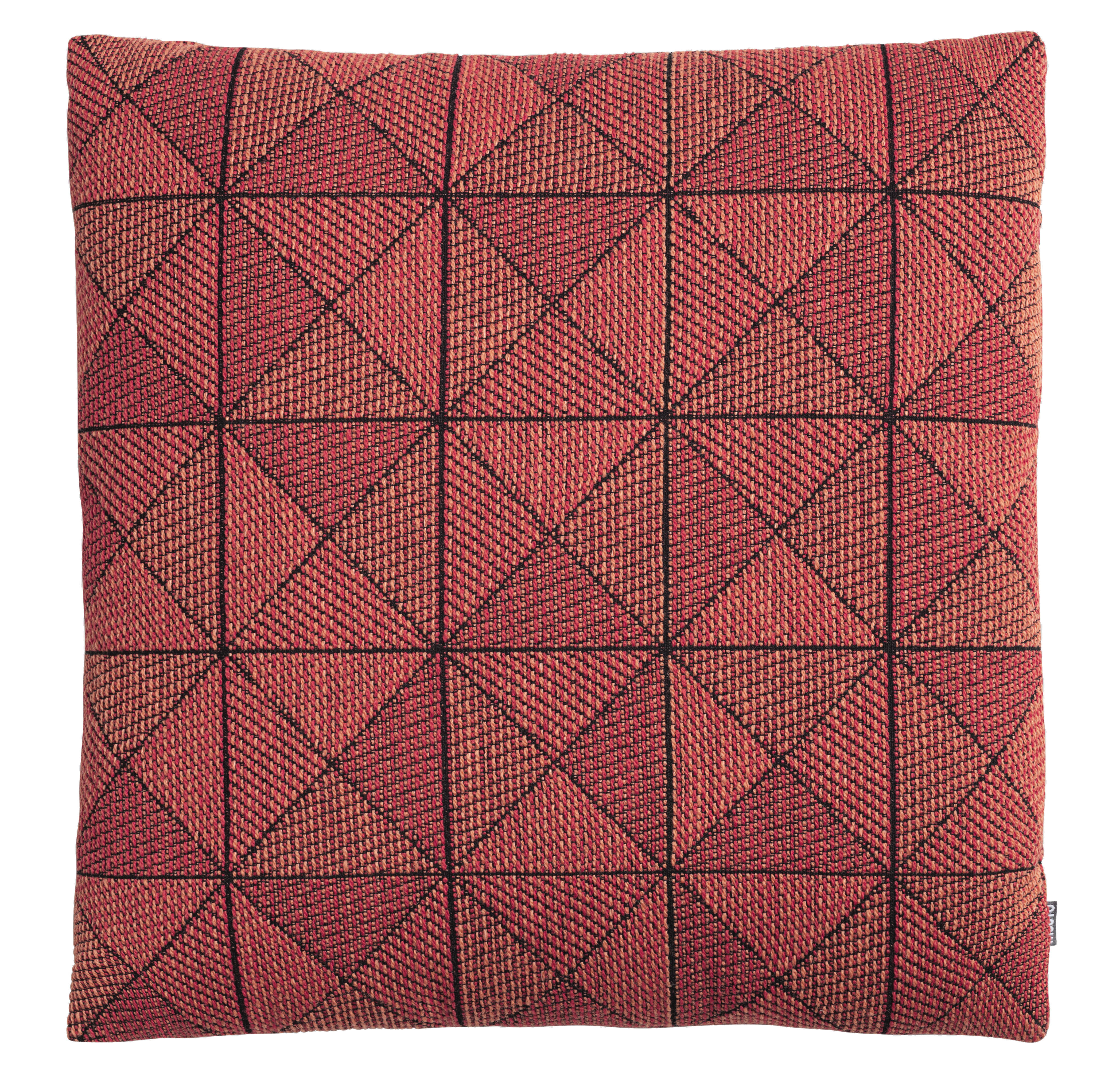 Decoration - Cushions & Poufs - Tile Cushion - 50 x 50 cm by Muuto - Tangerine - Down, New wool, Polyester fiber