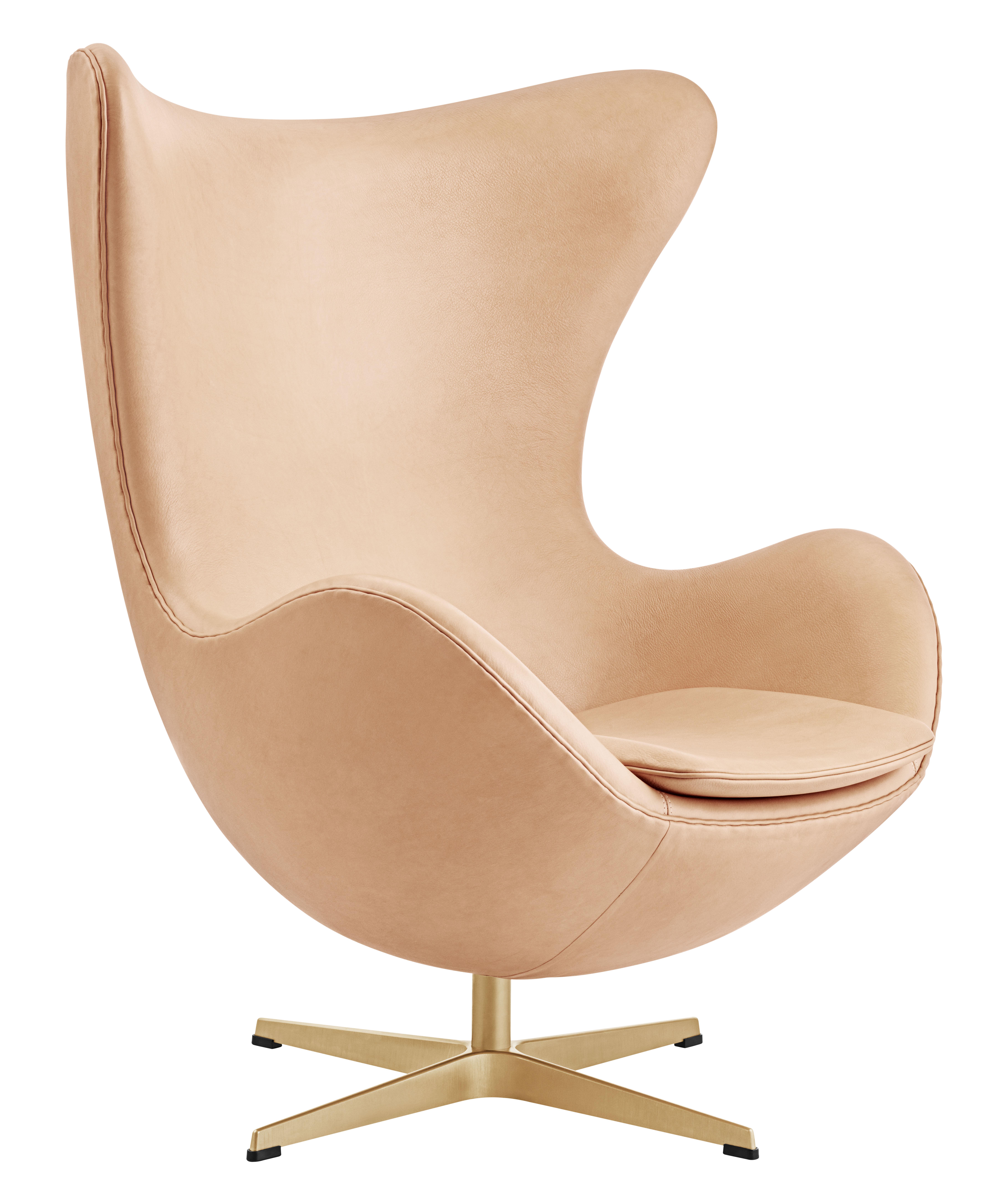 Egg Chair Drehsessel Leder Gold Limitierte Und Nummerierte