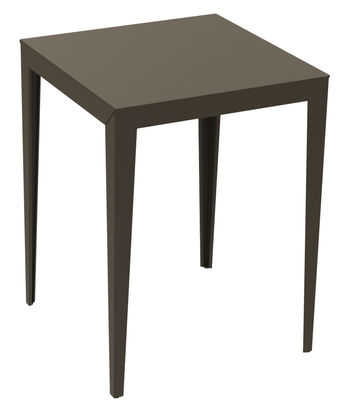 Furniture - High Tables - Zonda High table by Matière Grise - 80 x 80 cm- Taupe - Epoxy painted steel