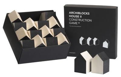 Déco - Tendance humour & décalage - Jeu de construction Archiblocks House 2 / 16 pièces - cinqpoints - Noir / Bois naturel - Tilleul