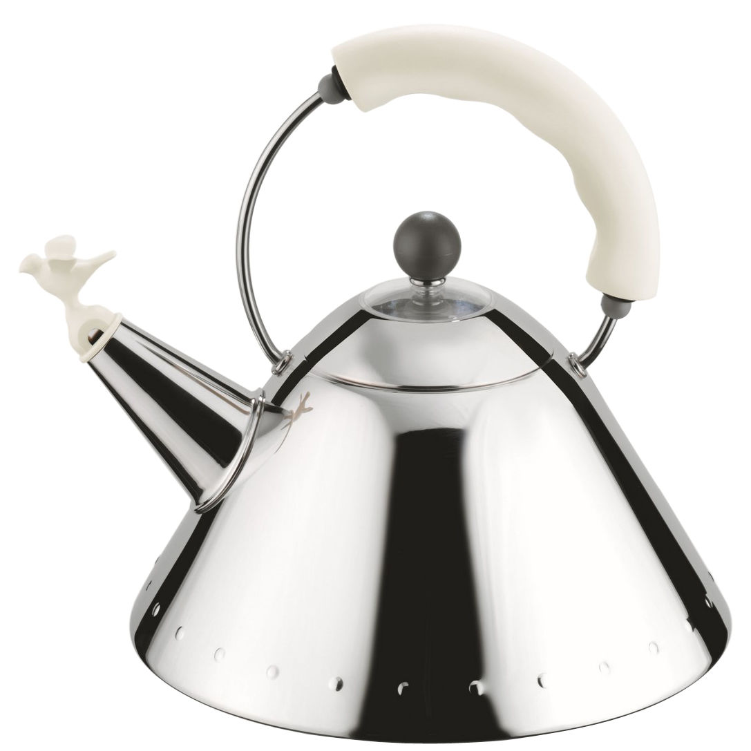 Tableware - Tea & Coffee Accessories - Oisillon Kettle by Alessi - White - Polyamide, Stainless steel