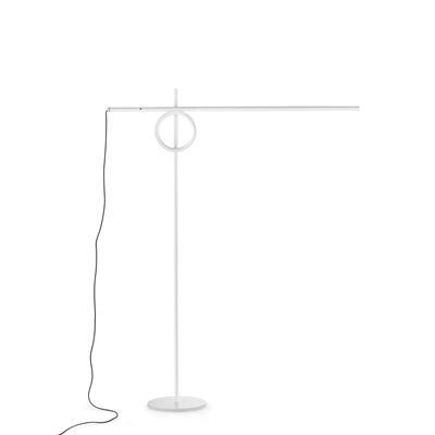 Image of Lampada da lettura Tangent Medium LED - / Orientabile - H 141 cm di Pallucco - Bianco - Metallo