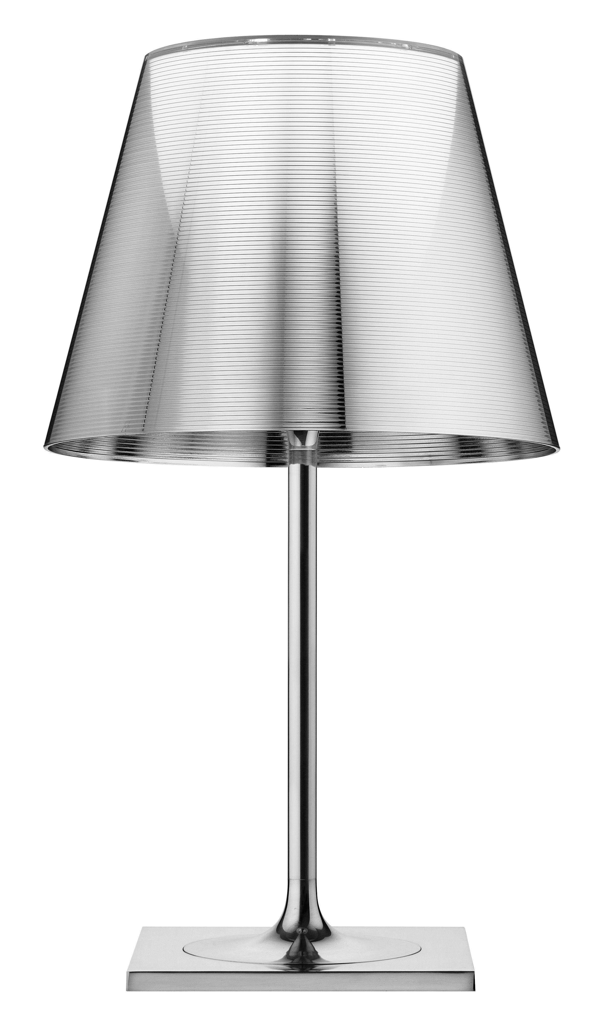 Illuminazione - Lampade da tavolo - Lampada da tavolo K Tribe T2 di Flos - Argento metallizzato - Alluminio lucido, PMMA