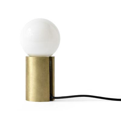 Lampada Da Tavolo Socket Di Menu Oro Metallo Made In Design