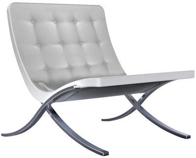 Furniture - Armchairs - Barceloneta Low armchair by Serralunga - Ivory - Aluminium, Polyurethane
