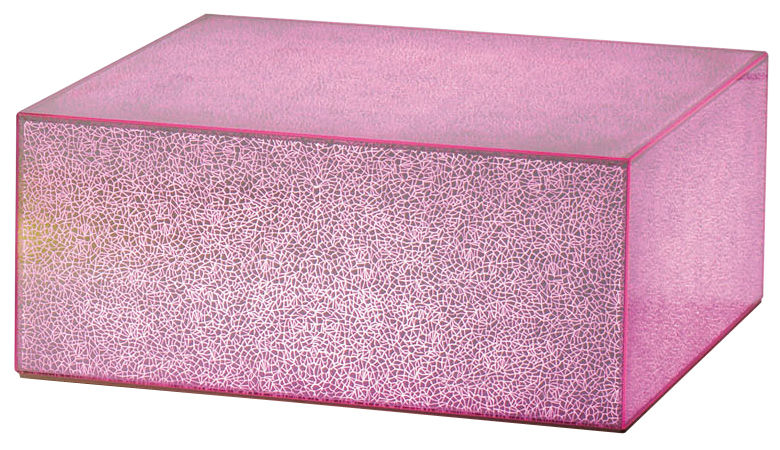 Furniture - Coffee Tables - Crack LED luminous coffee table by Glas Italia - Pink - Glass
