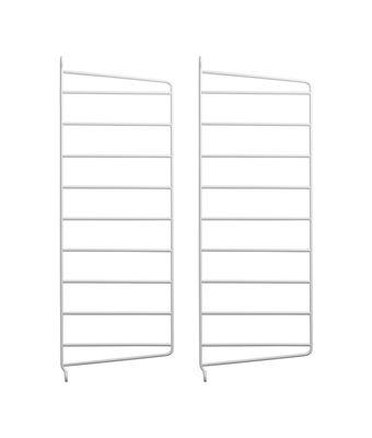 Arredamento - Scaffali e librerie - Montante murale String® system - / H 50 x P 20 cm - Set da 2 di String Furniture - Bianco - metallo laccato