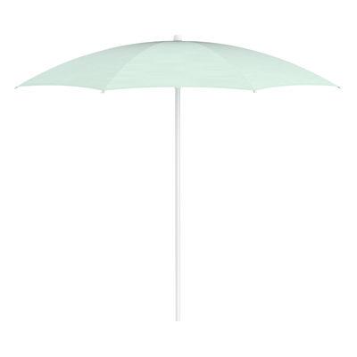 Outdoor - Parasols - Shadoo Parasol - / Ø 250 cm by Fermob - Ice mint - Lacquered aluminium, Sunbrella Outdoor Fabric