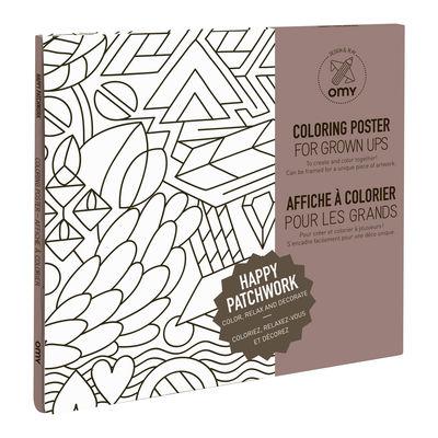 Déco - Pour les enfants - Poster à colorier Patchwork / 100 x 70 cm - OMY Design & Play - Patchwork - Papier recyclé