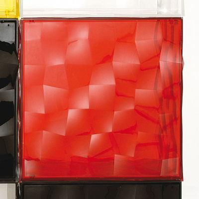 Rangement Optic sans porte - Kartell rouge transparent en matière plastique
