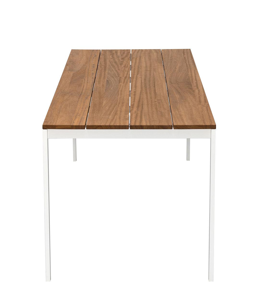 Outdoor - Tische - be-Easy rechteckiger Tisch / Teakholz - 200 x 79 cm - Kristalia - Teakholz / lackierter Stahl - lackierter Stahl, Teakholz